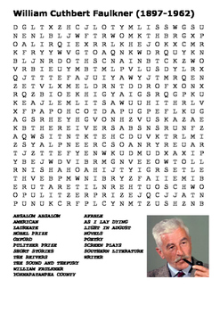 William Cuthbert Faulkner Word Search