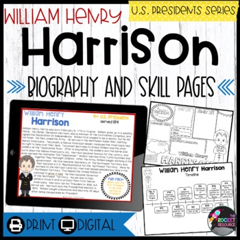 William Henry Harrison: Biography, Timeline, Graphic Organ