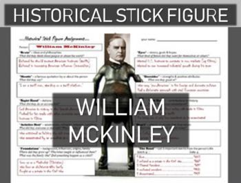 William McKinley Historical Stick Figure (Mini-biography)