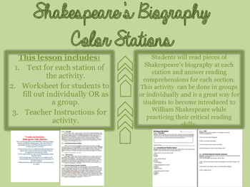 William Shakespeare Biography Color Stations