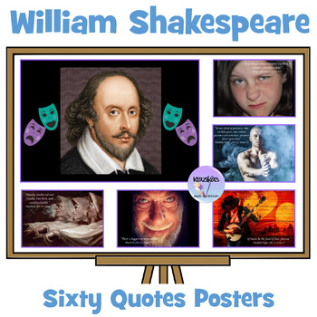 William Shakespeare Quote Posters From The Bard Of Avon -