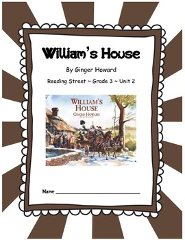 William's House CCSS Comprehension Booklet Reading Street Unit 2