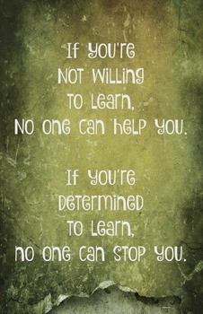 Willing to Learn Classroom 11 x 17 Poster Classroom Management