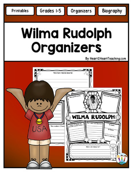Wilma Rudolph Organizer for Guided Research: Perfect for W