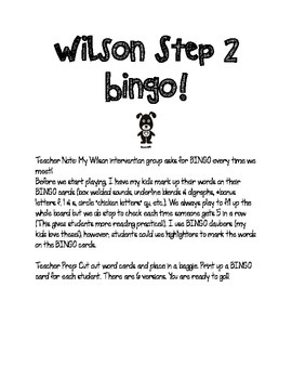 Step 2 Bingo! Closed Syllable Words with Blends Review for