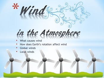 Wind in the Atmosphere (Powerpoint, Interactive Notebook &