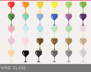 Wine Glass Digital Clipart, Wine Glass Graphics, Wine Glass PNG