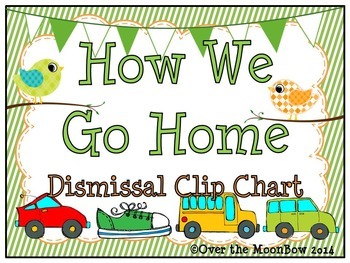 Winged Whimsy -How We Go Home Dismissal Clip Chart - Birds