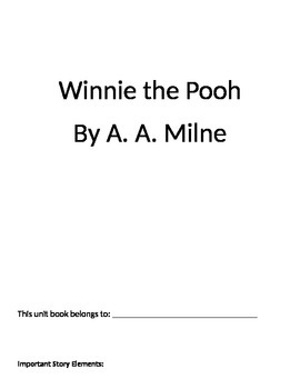 Winnie the Pooh Unit Student Book
