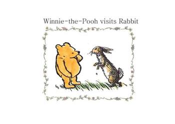 Winnie the Pooh visits rabbit