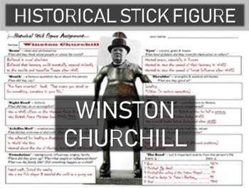Winston Churchill Historical Stick Figure (Mini-biography)