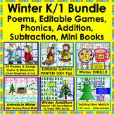 Winter {BUNDLE VALUE} Winter Activities For K/1 Kindergart