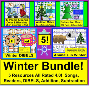 Winter {BUNDLE VALUE} Winter Activities For K/1 Kindergart