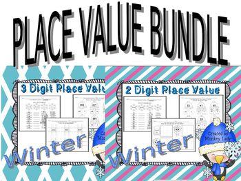 Winter 2 & 3 Digit Place Value Bundle