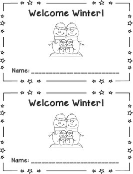 Winter 2 Digit Addition and Subtraction Book {FREEBIE}