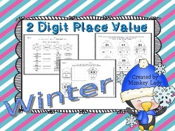 Winter 2 Digit Place Value Practice