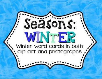 Winter 3-Part Montessori / Vocabulary Cards