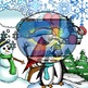 """""""Winter"""" 34 pc. Clip-Art Set (BW and Color)"""