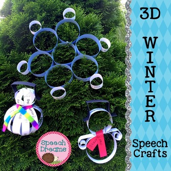 Winter 3D Speech Therapy Crafts {articulation language cra