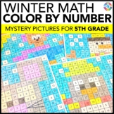 5th Grade Winter Activities: 5th Grade Winter Math (Color-