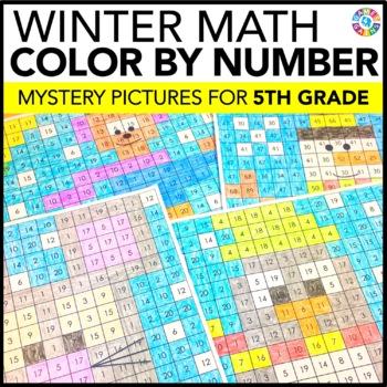 5th Grade Winter Activities: 5th Grade Winter Math (Color-