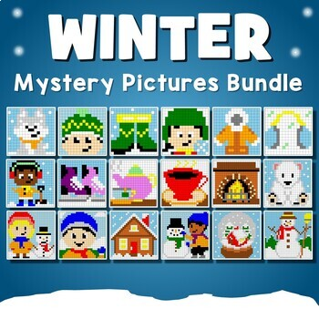 Winter Coloring Pages - Winter Color By Number Activity