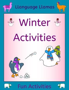 English Winter Activities for ESL, EAL, EFL