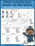 Winter Activities Easy Reader Book Set With Writing