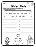 Winter Activities Grammar Compound Words Winter Grammar Ac