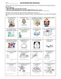 Core French Winter Activities Human Bingo + Writing