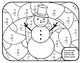Snowman Math Subtraction Winter Color by Number Math Winte