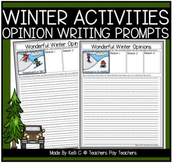 Winter Activities Opinion Writing