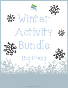 Winter Activity Bundle ~ No Prep!
