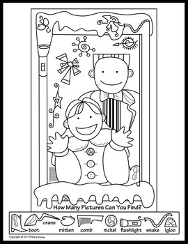 Winter Activity Coloring Pages