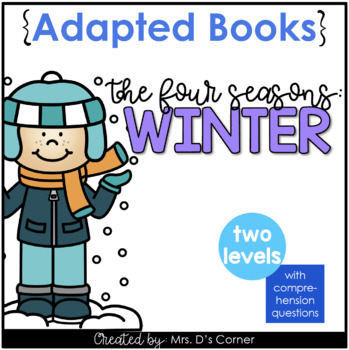 Winter Adapted Book { Level 1 and Level 2 } Winter Season