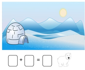 Winter Addition Stories Smartboard (snowman, bear, polar b