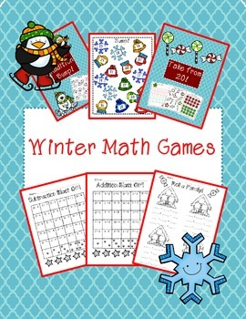 Winter Addition and Subtraction Packet