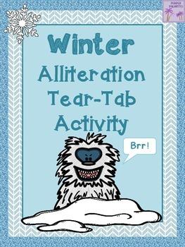 Winter Alliteration Tear-Tab Activity