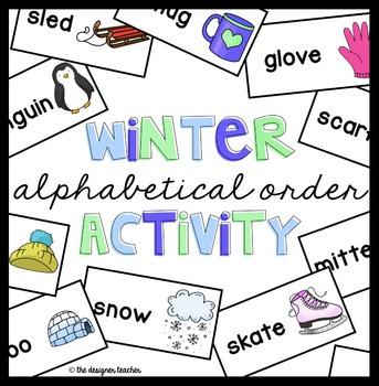 Winter Alphabetical Order Activity