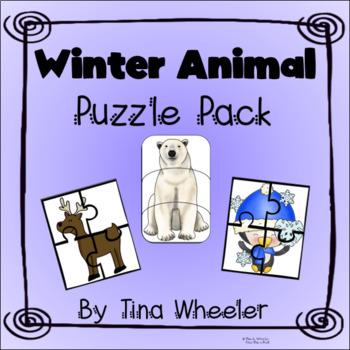 Winter Animal PreK Puzzle Pack