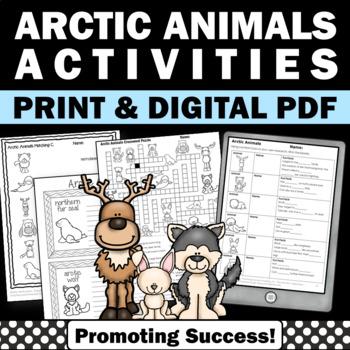 Winter Animals Science Literacy & Writing No Prep Activiti