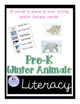 Winter Animals Word Wall Words