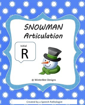Winter Articulation Initial R