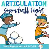 Snowball Fight: Winter Articulation Preschool