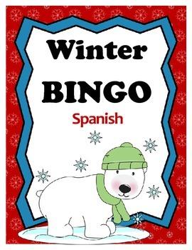 Winter BINGO - Spanish Edition