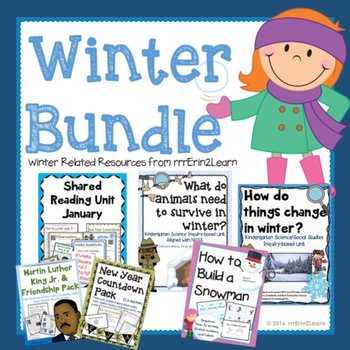 Winter BUNDLE Science Writing Reading