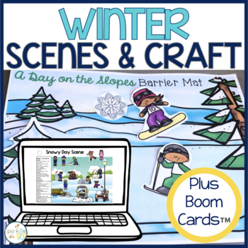 Winter Barrier Activity and Craftivity for Speech and Lang