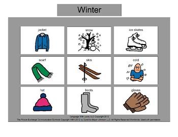 Winter Bingo! [speech therapy and autism]