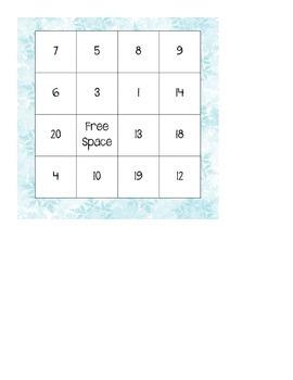 Winter Bingo Boards 4 x 4