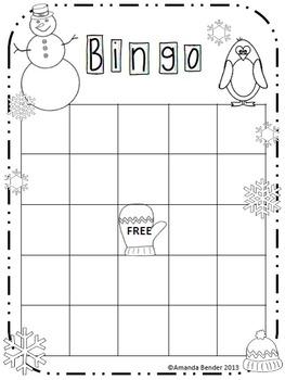 Winter Bingo Sheet